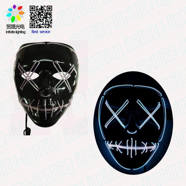 Costume di Halloween Maschera LED Il Spurgo Film EL Filo DJ Party Festival di Modo HQ