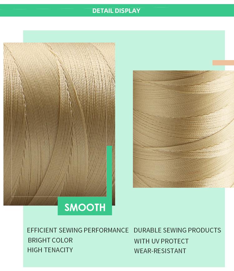 กวางโจว Kangfa 420d/3 0.45 มม. Stong ความทนทานสูง UV ป้องกันสีขาวสีไนลอน Bonded Thread
