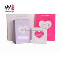 Customized heart-shaped valentine's day eco-friendly gift paper bag