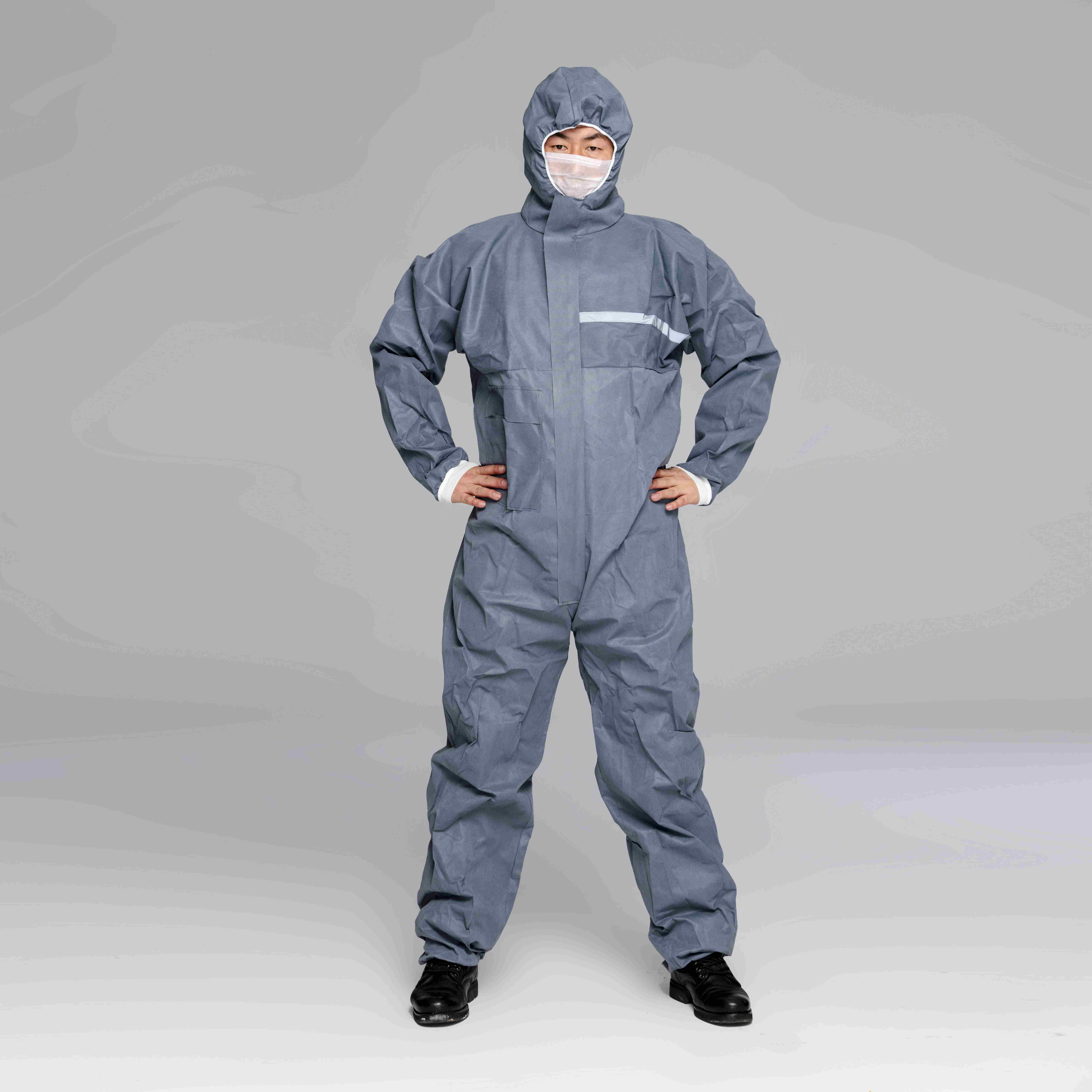 Hot sale PP Disposable coverall with hood for food processing and Packing