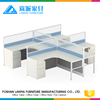 2017 Factory directly office partition with standard office desk dimensions ,modern office workstation part for 4 person