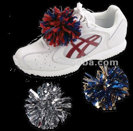 cheerleader ponytail hair and Shoe Pom Poms