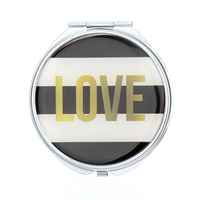 folding pocket mirror with metal pocket mirror blank heart shaped compact mirror wholesale