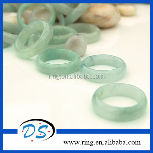Wide Gemstone Healing Pretty New Design Jade One Stone Ring Designs