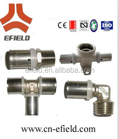 SAI Certification BRASS PRESS FITTINGS FOR PLASTIC ALUMINUM COMPOSITE PIPES