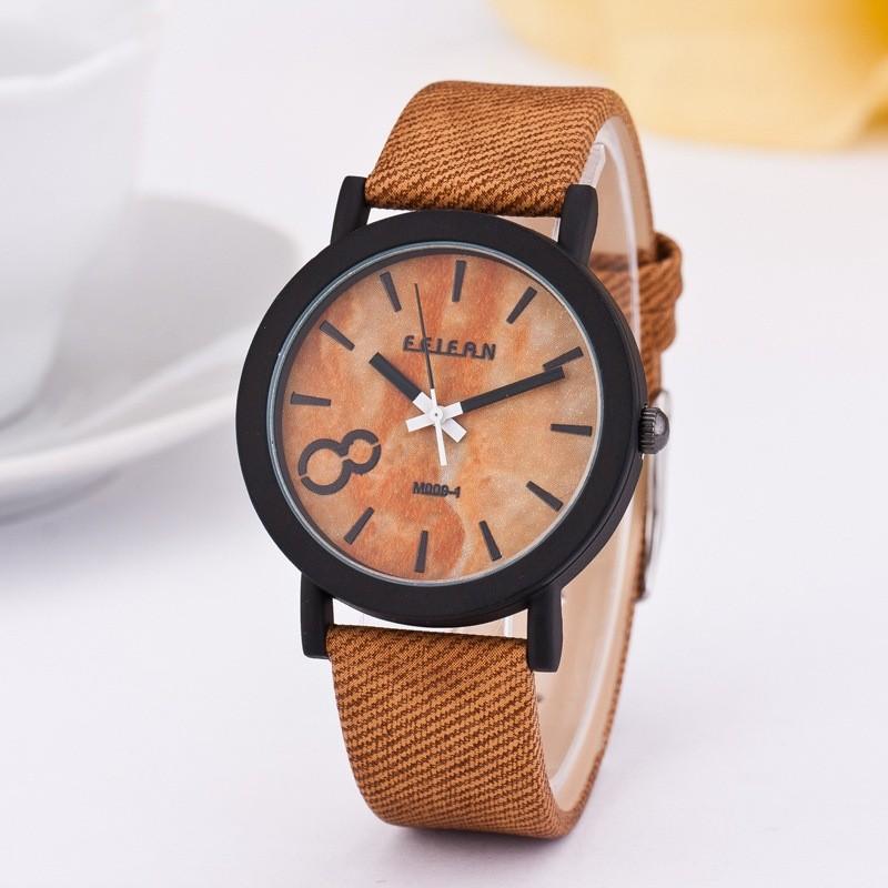 49ec42972e5 Simulação De Madeira Homens De Quartzo Relógios Casuais Relógio Pulseira de  Couro De Cor de Madeira