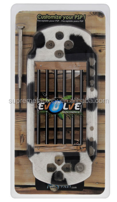 For PSP Cow Fur Talismoon Evolve Face Plate