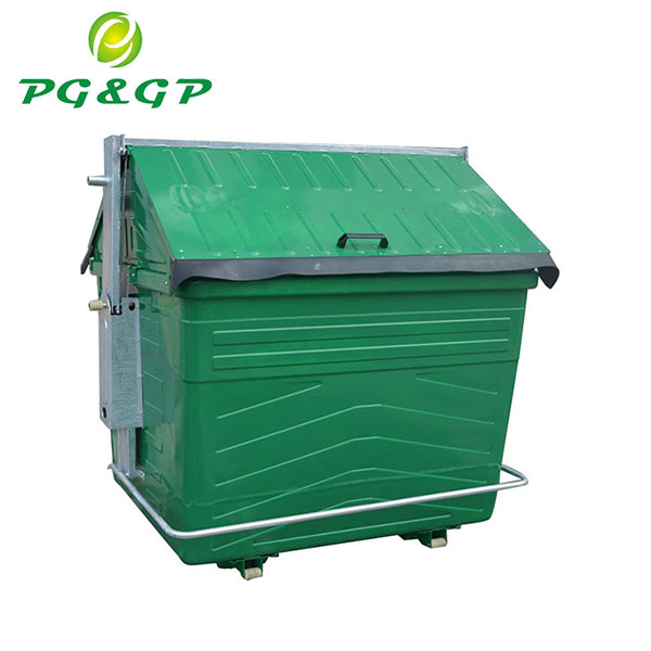 China Hot Dip Galvanzation 3.0MM Lid Arms Thickness Mini Recycling Bin