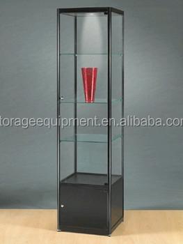 Aluminium Free Standing Glass Jewelry Showcase/ Glass Display ...