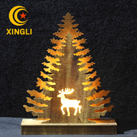 2017 Popular style christmas decoration supplies wooden christmas tree