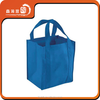 Free Sample Custom 6 Bottle Wine Non Woven Tote Bag