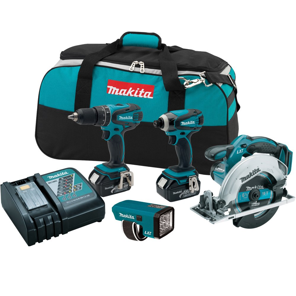 Makita LXT437 Combo Kit, 4-Piece (Discontinued by Manufacturer)