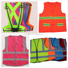 EN471 / EN 13356 elastic customized high visibility reflective safety sleeveless vest manufacture