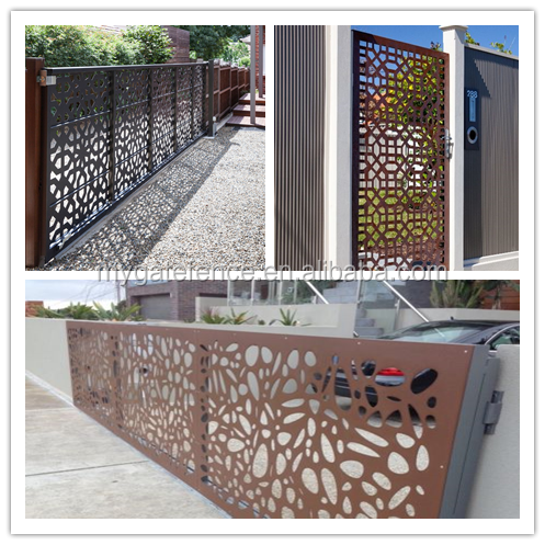 Decorative Garden Entrance Front Modern Laser Cut Gate