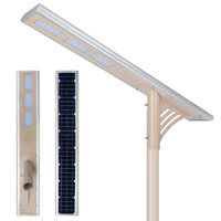 12v 45w outdoor ip65 mition sensor cob led solar street light housing