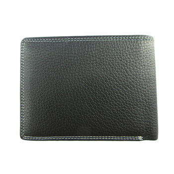 Experienced manufacture high quality black top grain real leather wallet for men