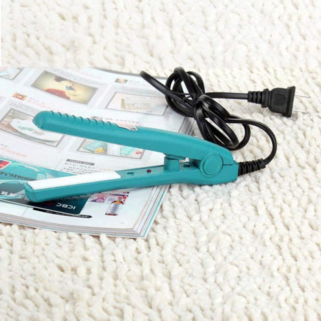 Putars Mini Portable Multifunction Fashion Travel Woman Ceramic Portable Ceramic Hair Straightener Tool Blue