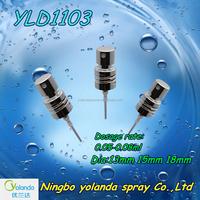 2015 Good quality aluminium -plastic cosmetic crimp pump spray