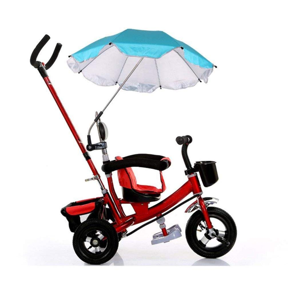 Baby Stroller Umbrella,Sunbona Baby Stroller Cover Parasol with Universal Clamp for Sun Rain Protection UV Rays Outdoor Umbrella (Blue)