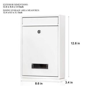 Free Sample Supply Gate Mounted Indoor House Number and Visible Window Vertical Shape Combination Lock Mailbox