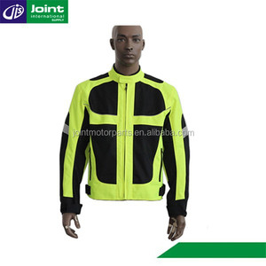 600D Nylon Fluorescent Green Safety Motorcycle Jacket