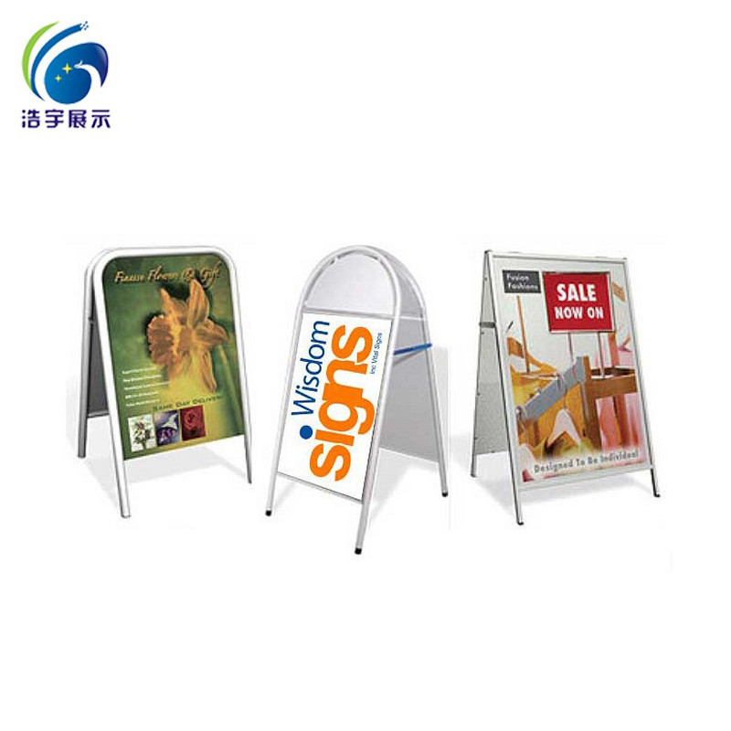 2018 hot sales! high quality! A1 outdoor advertising board/floor standing poster stand/double sides