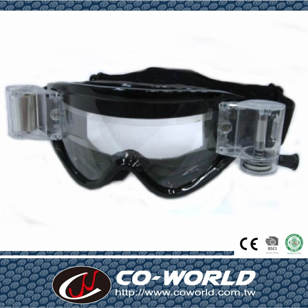 Black TPU frame tinted lens fashion style motorcycle protected goggle