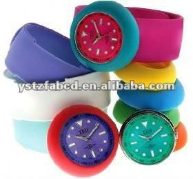2015 new arrival Bundle Monster 12 Piece Jelly Silicone the slap watch Mixed Color Set with Interchangable Faces