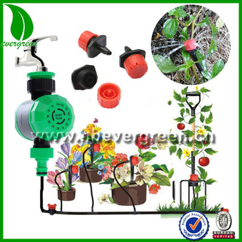 Diy Micro Drip Irrigation System Plant Self Automatic Watering Timer