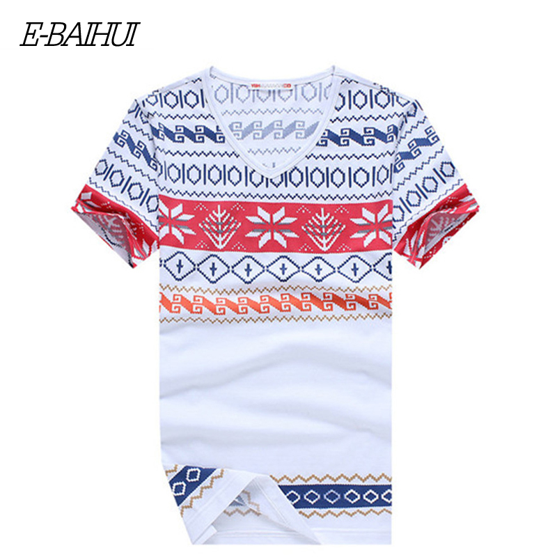 E BAIHUI SUMMER mens t shirts fashion printing Clothing Swag Men T shirts Camiseta Fitness Tee
