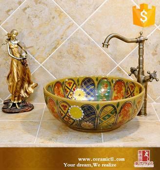 Pastel Color Bathroom Sink Decals Sanitary Ware