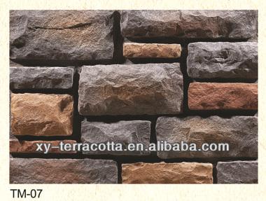 Decoracion columnas interiores imitaci n piedra baldosas - Panel piedra precio ...