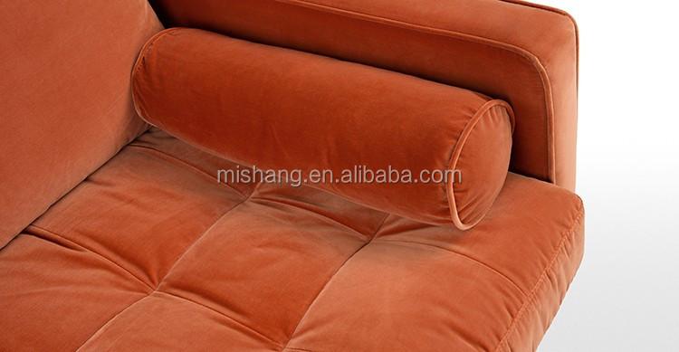 Belgium Modern Orange Velvet Sofa Sets For Living Room