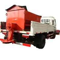 chinese lowest price LHD 3m3 snow removal truck mounted snow removing machine