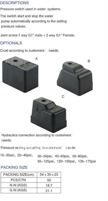 Pressure Control Switch Pc 9 View Pressure Control Switch Pc 9 Haitun Product