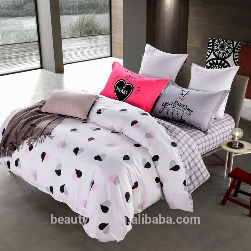 Modern Design Polyester Printed comforter luxury home textile Cotton bed sheet BS410