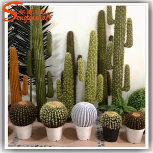 Latest design home decoration craft artificial cactus plants make decoration plastic cactus and plants
