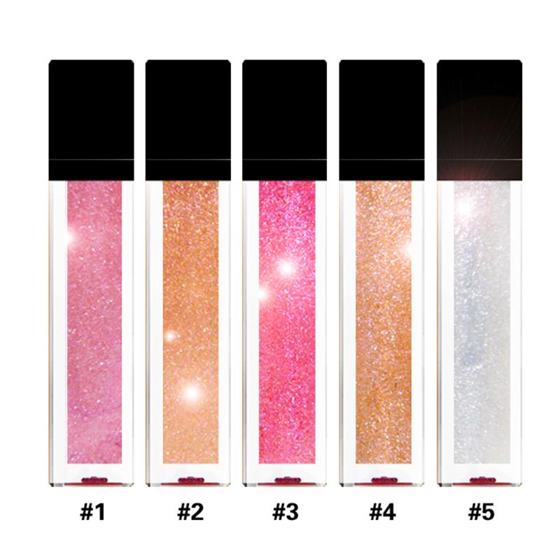 Wholesale Custom Logo 11 Colors Makeup Colorful Liquid Stick Shimmer Moisturizing Charming Soft Tube Shiny Glitter Lip Gloss