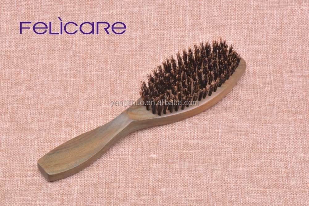 Green Sandalwood and boar bristle hair brush manufacturer