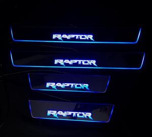LED moving door scuff for ford raptor