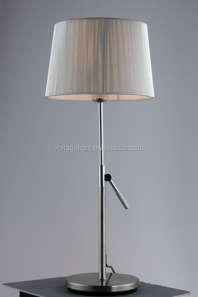 Modern Classic Metal Standing Table Lamp Adjustable Height Metal ...