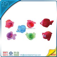 New design kids bath vinyl rubber toy set for wholesale