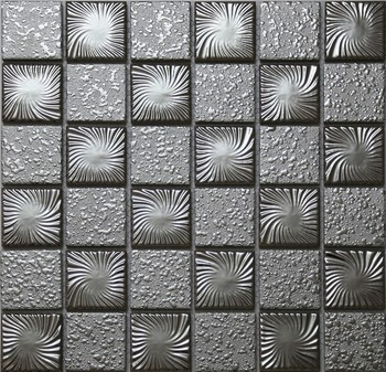 Silver Color Anium Ceramic Mosaic Tiles