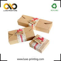 Custom eco-friendly kraft paper tea box packaging