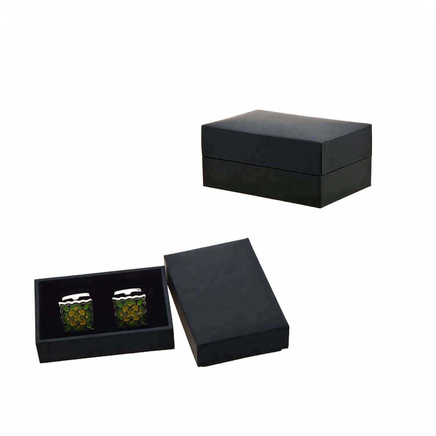 wholesale personalised antique mens travel black luxury leather cufflink box
