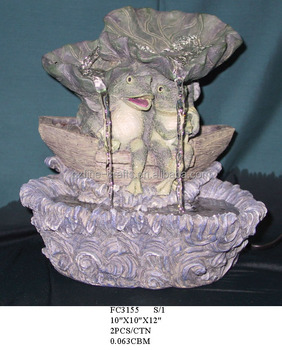 Polyresin Frog Handicrafts Tabletop Fountain