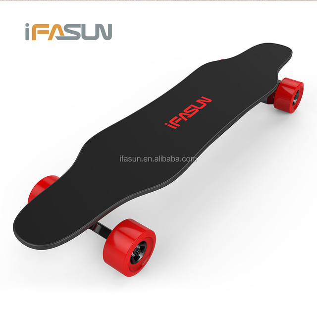 New 4 Wheel Electric Skateboard High Quality Wireless Remote Control Dual Belt Motor drive Longboard Electric Skateboard