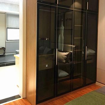 New Design Aluminum Frame Glass Door Wardrobe Cabinet For The Bedroom  Storage - Buy Wardrobe Cabinet,New Design Aluminum,Glass Door Product on ...