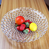 Haonai Goodquality glass plate, best fruit glass dish, round glass dessert plate