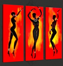 Custom Hot Selling African People Sexy Women Photo Oil Paintings Canvas Prints